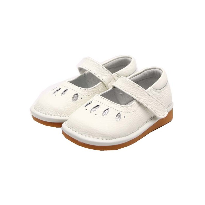 freycoo white lea squeaky toddler shoes clothing