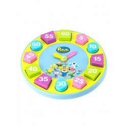 Pororo Wooden Toy Learning Clock