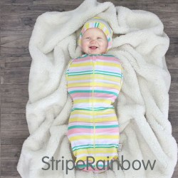 CuddleMe Hybrid Swaddle Pod - Stripe Rainbow