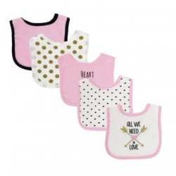 Luvable Friends 5 Piece Drooler Bibs with Fiber Filled 50975