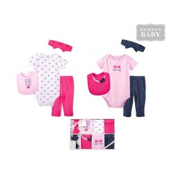 Hudson Baby 8 Pieces Newborn Baby Clothing Gift Set -Girls 58143