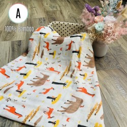Our Button Nose 100% Bamboo Muslin Swaddles By BIBOO