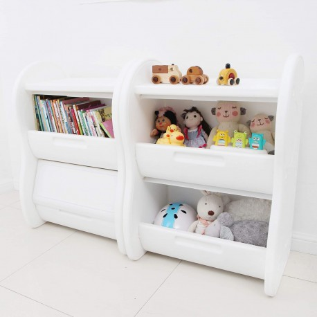 Elephant Toy Organizer - White