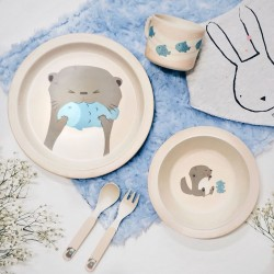Adertek Baby & Kids Rainforest Friends Kids' Cutlery 5pcs Set - Otter