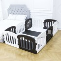 Ifam Natural Baby Play Yard with Door Set (10pcs 220x148cm) - Black+White