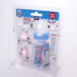 Japlo Easy Grip Bottle (140ml) with 2 Silicone Nipples