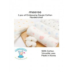 Mooroo Embossing Gauze Cotton Handkerchief (9pcs)