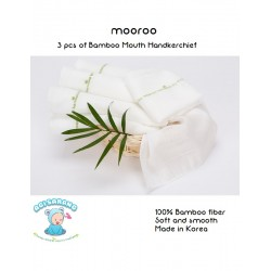 Mooroo Bamboo Mouth Handkerchief (6pcs)