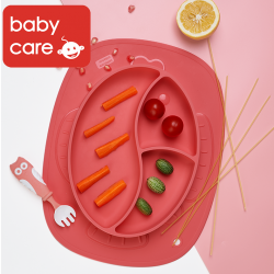 bc babycare Baby Silicone Plate