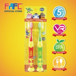 FAFC Robocar Poli - Helly  Roy Suction Kids Toothbrush (2pcs)