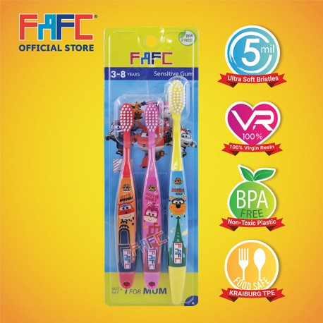 FAFC SW Super Wing Sleeve Kids Toothbrush (3-8 years)