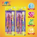 FAFC SW Super Wing Sleeve Kids Toothbrush 8+ Bundle Set 1 (SW Super Sleeve Kids Toothbrush 8+ x 2 units)