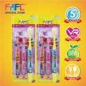 FAFC SW Super Wing Sleeve Kids Toothbrush 1-3 (SW Super Sleeve Kids Toothbrush 1-3 x 2 units)