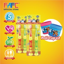 FAFC Robocar Helly Roy Suction Kids TB Bundle Set 1 (Helly Roy Suction Kids TB 2(s) x 2units + 2 cups)