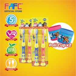 FAFC Robocar - Poli Amber Suction Kids TB Bundle Set 1 (Poli Amber Suction Kids TB 2(s) x 2units + 2cup)