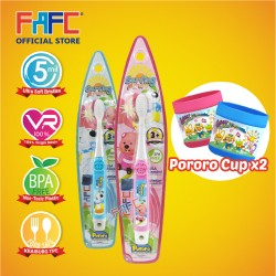 FAFC Loopy Toothbrush Hook Bundle Set 2 (1 Loopy Hook Toothbrush + 1 Poby Hook Toothbrush + 2 Cup)