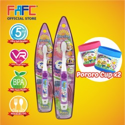 FAFC Petty Toothbrush Hook Bundle Set 1 (1 Petty Hook Toothbrush + 1 Petty Hook Toothbrush + 2 Cup)