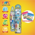 FAFC Poby Toothbrush Bundle Set 2 (1 Poby Figurine Toothbrush + 1 Pororo Hook Toothbrush + 1 Cup)