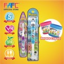 FAFC Poby Toothbrush Bundle Set 3 (1 Poby Figurine Toothbrush + 1 Petty Hook Toothbrush + 1 Cup)