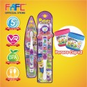 FAFC Petty Toothbrush Bundle Set 1 (1 Petty Figurine Toothbrush + 1 Petty Hook Toothbrush + 1 Cup)