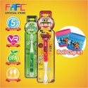 FAFC Robocar Roy Toothbrush Bundle Set 4 (1 Roy Figurine Toothbrush + 1 Helly Hook Toothbrush + 1 Cup)
