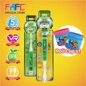 FAFC Robocar Helly Toothbrush Bundle Set 1 (1 Helly Figurine Toothbrush + 1 Helly Hook Toothbrush + 1 Cup)