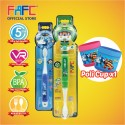 FAFC Robocar Helly Toothbrush Bundle Set 2 (1 Helly Figurine Toothbrush + 1 Poli Hook Toothbrush + 1 Cup)