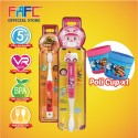 FAFC Robocar Amber Toothbrush Bundle Set 3 (1 Amber Figurine Toothbrush + 1 Roy Hook Toothbrush + 1 Cup)