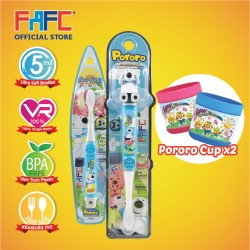 FAFC Poby Toothbrush Bundle Set 1 (1 Poby Figurine Toothbrush + 1 Poby Hook Toothbrush + 1 Cup)
