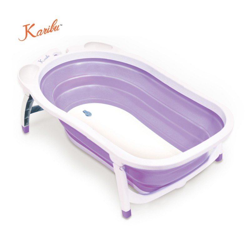 karibu folding bath tub purple bathing. Black Bedroom Furniture Sets. Home Design Ideas