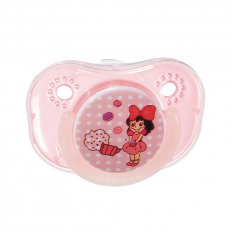 Farlin Chu Chu Pacifier with Chain Set-Orthodontic (Pink-0m+)