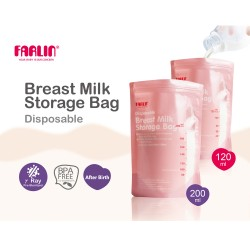 Farlin Disposable Breast Milk Storage Bag (200ml)