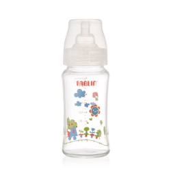 Farlin Glass Feeding Bottle-Heat Resistant a33-Wide-neck (240ml)