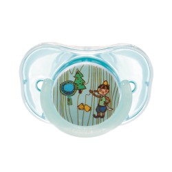Farlin Chu Chu Pacifier with Chain Set-Orthodontic (Blue-6m+)