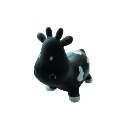 Hopz Along Inflatable Toy Cow (Black)