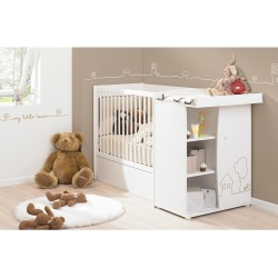 Galipette LITTLE TOWN Convertible Cot Bed