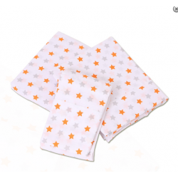 Bubba Blue Everyday Essentials 3pc Cot Sheet Set - Grey/Orange Star