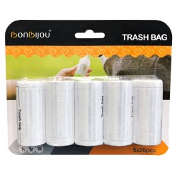 Bonbijou Trash Bag Refills 5 x 20pcs (Pack of 2)
