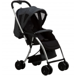Bonbijou Lucas Lite Weight Stroller (Charcoal Black)