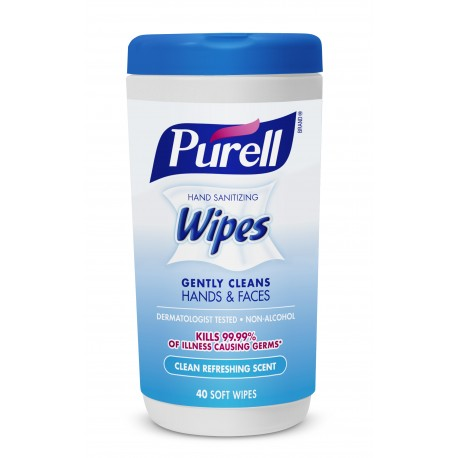 Purell Non-Alcohol Cottony Soft Sanitizing Wipes - Fragrance Free (40 Wipes)