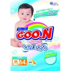 GOO.N JV Diapers M64 4-Pack + FREE Water Pocket Lotion Tissue