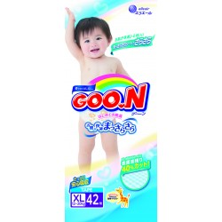GOO.N JV Diapers XL42 4-Pack + FREE Water Pocket Lotion Tissue