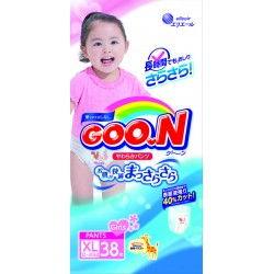 GOO.N JV Pants XL38 Girls 4-Pack + FREE Water Pocket Lotion Tissue