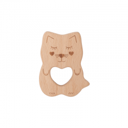 Kippins Kitty Beech Wood Teething Toy