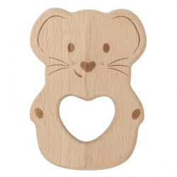 Kippins Luna Beech Wood Teething Toy