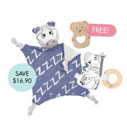Kippins Bam Cuddle Blankie Set (FREE Wooden Teether)