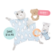 Billie Cuddle Blankie Set (Buy 2 Free 1)