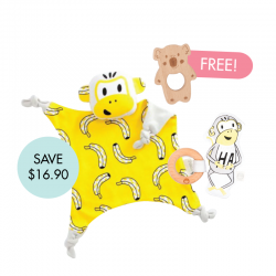 Kippins Splits Cuddle Blankie Set (FREE Wooden Teether)