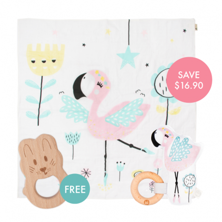 Coco Story-print Wrap Set (Buy 2 Free 1)