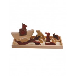 Magic Forest Red Wood Puzzle Series - Noah Ark''s Puzzle